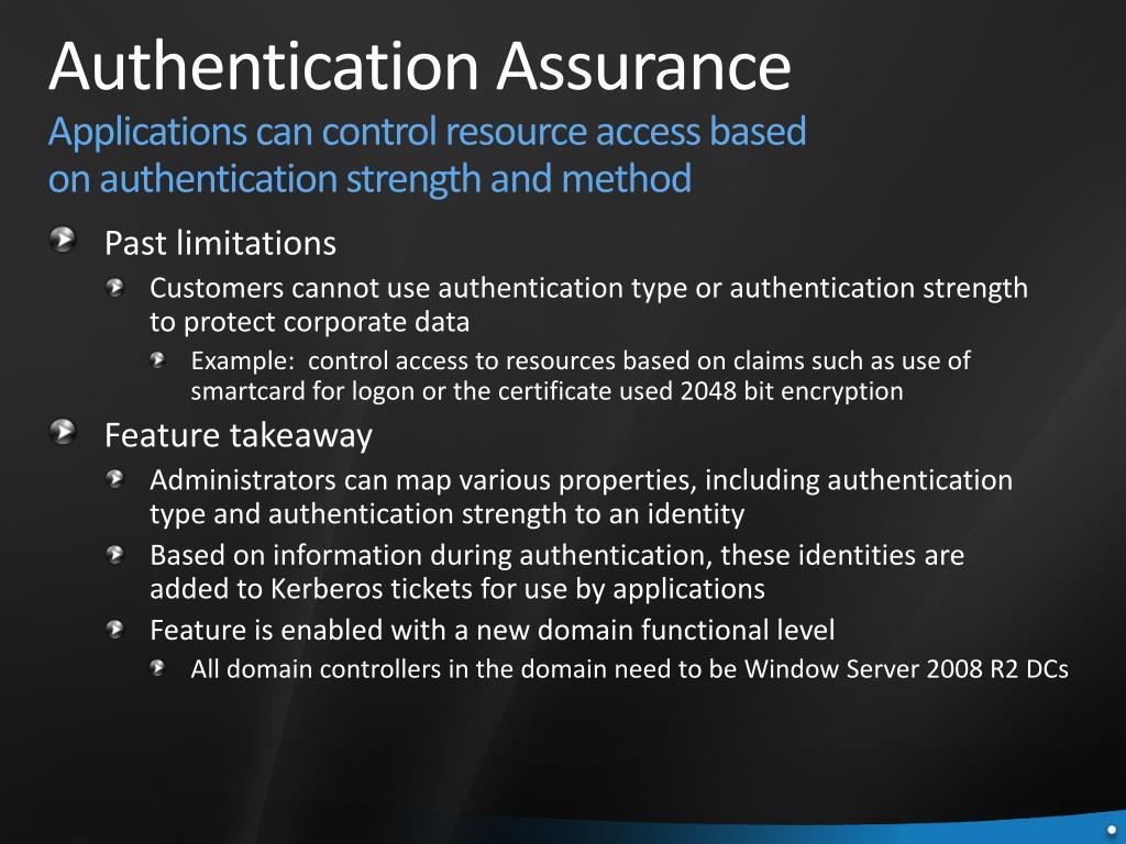 Authentication Assurance