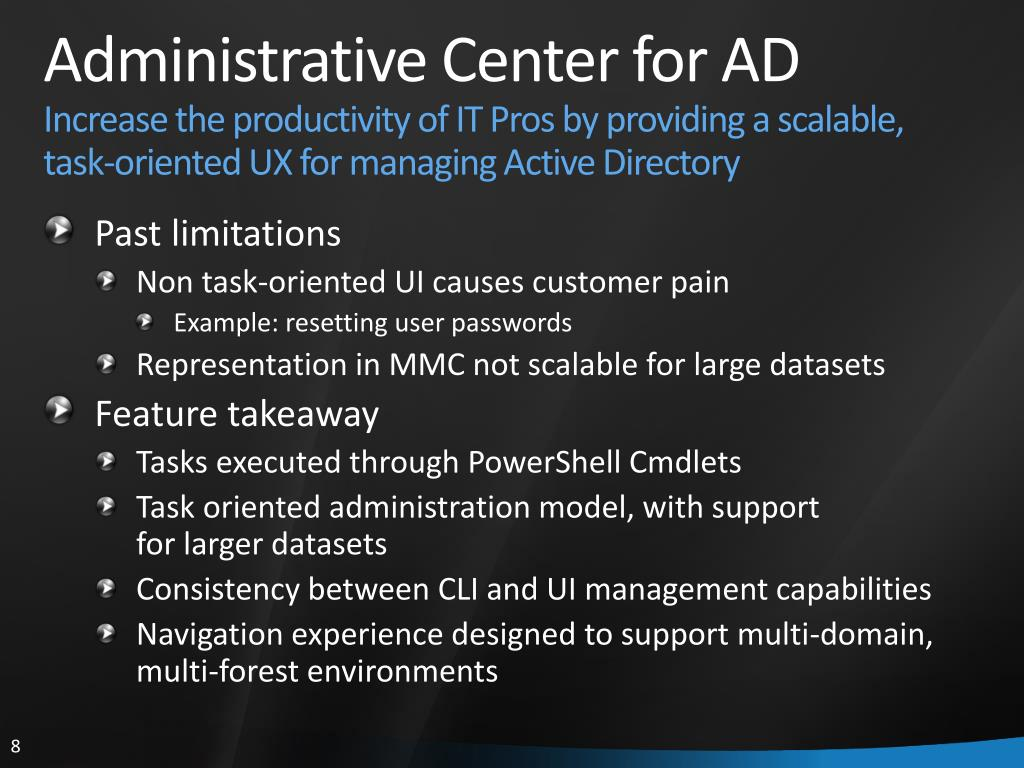 Administrative Center for AD