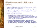 other components of a web search engine