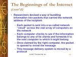 the beginnings of the internet cont d