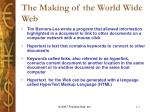 the making of the world wide web
