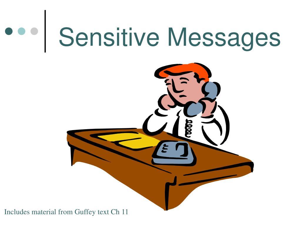 Sensitive Messages