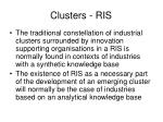 clusters ris19