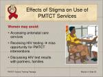 effects of stigma on use of pmtct services