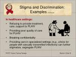 stigma and discrimination examples continued36