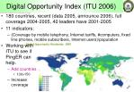digital opportunity index itu 2006