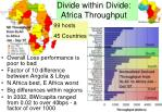 divide within divide africa throughput