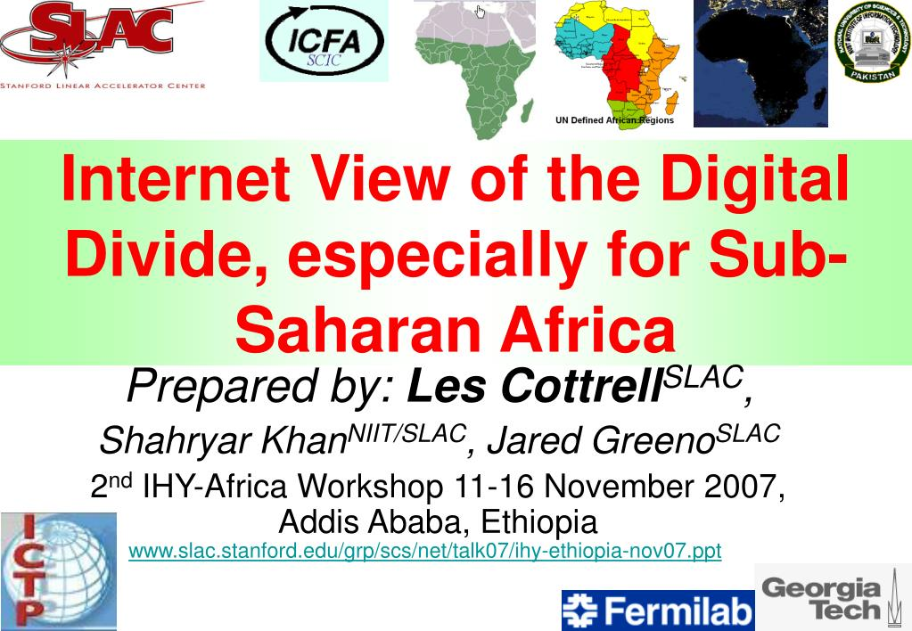 internet view of the digital divide especially for sub saharan africa