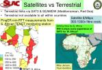 satellites vs terrestrial