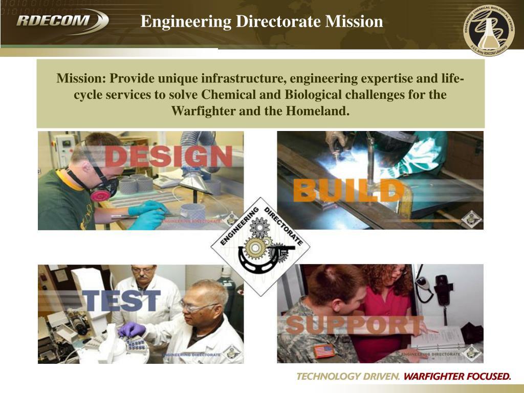Engineering Directorate Mission
