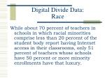 digital divide data race