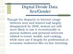 digital divide data sex gender