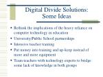 digital divide solutions some ideas