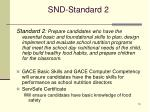 snd standard 2