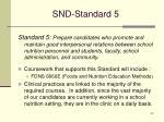 snd standard 5