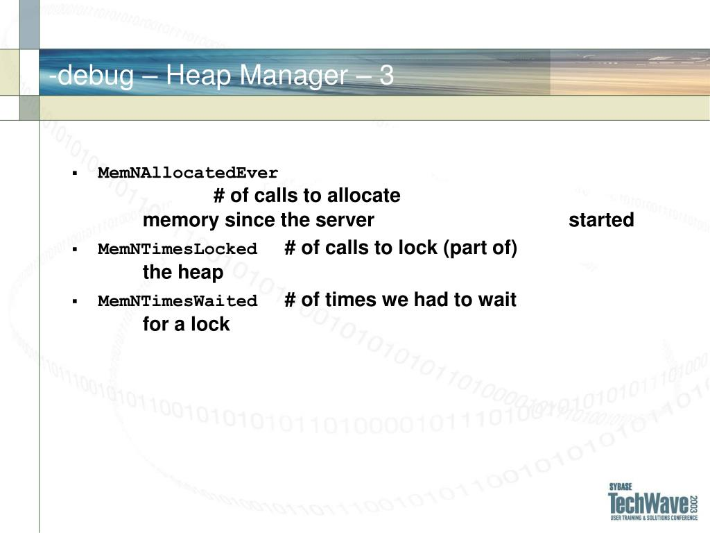 -debug – Heap Manager –