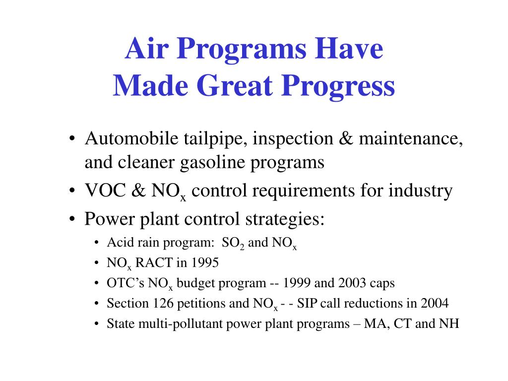 Air Programs Have