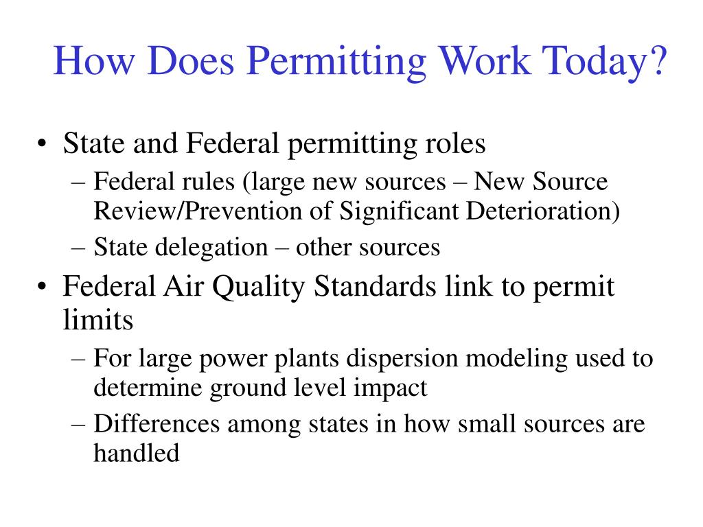 How Does Permitting Work Today?