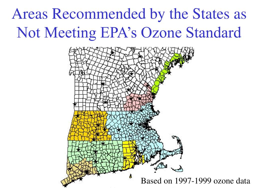 Areas Recommended by the States as Not Meeting EPA's Ozone Standard