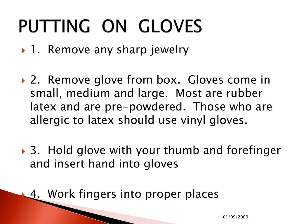 PUTTING  ON  GLOVES