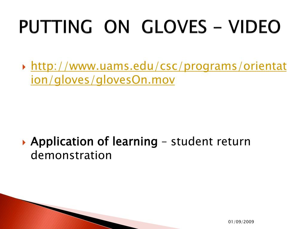 PUTTING  ON  GLOVES - VIDEO