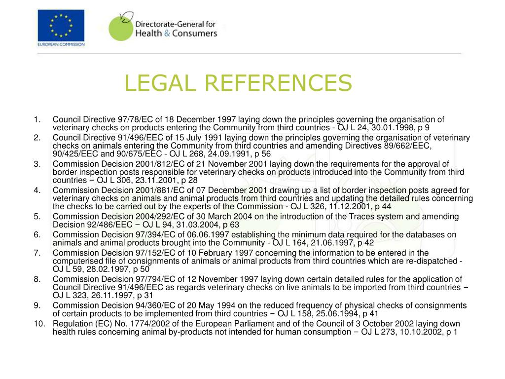 LEGAL REFERENCES