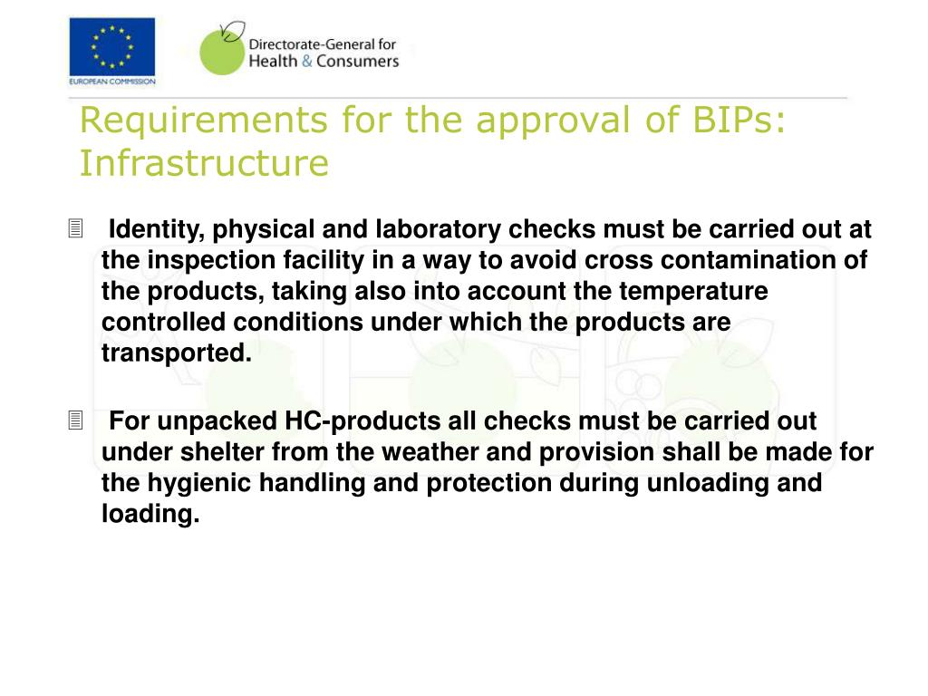 Requirements for the approval of BIPs: Infrastructure