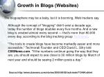 growth in blogs websites