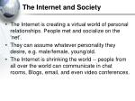 the internet and society