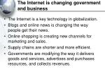 the internet is changing government and business