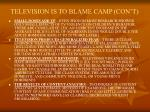 television is to blame camp con t8