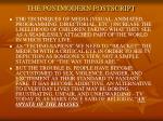 the postmodern postscript