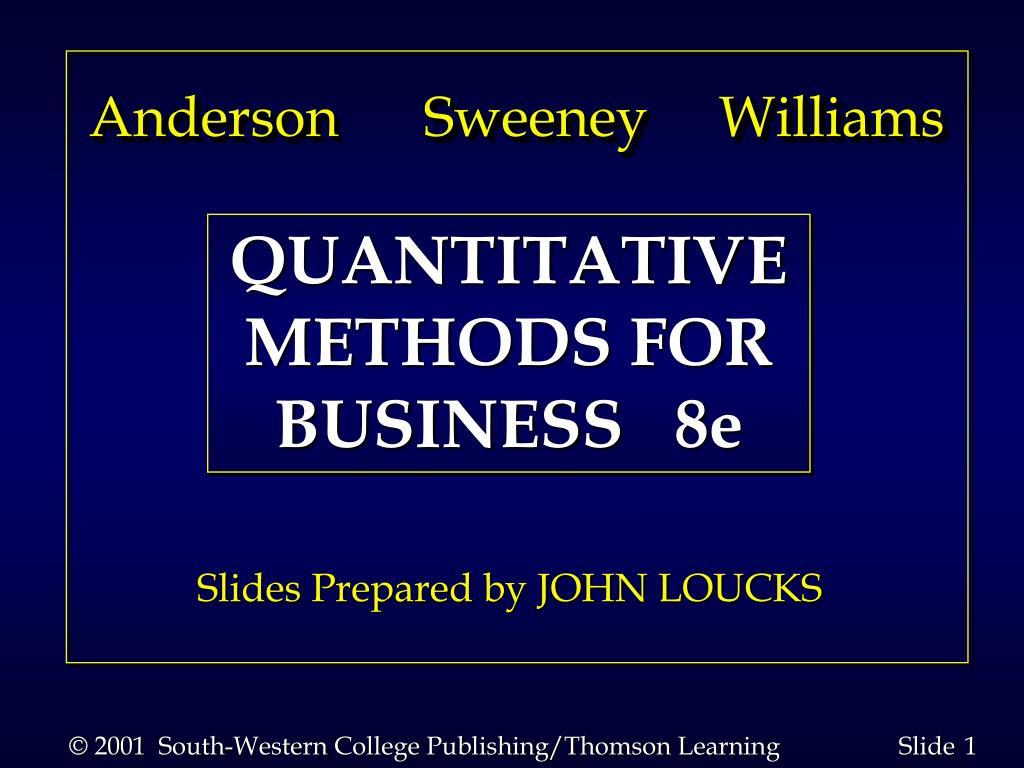 Anderson      Sweeney     Williams