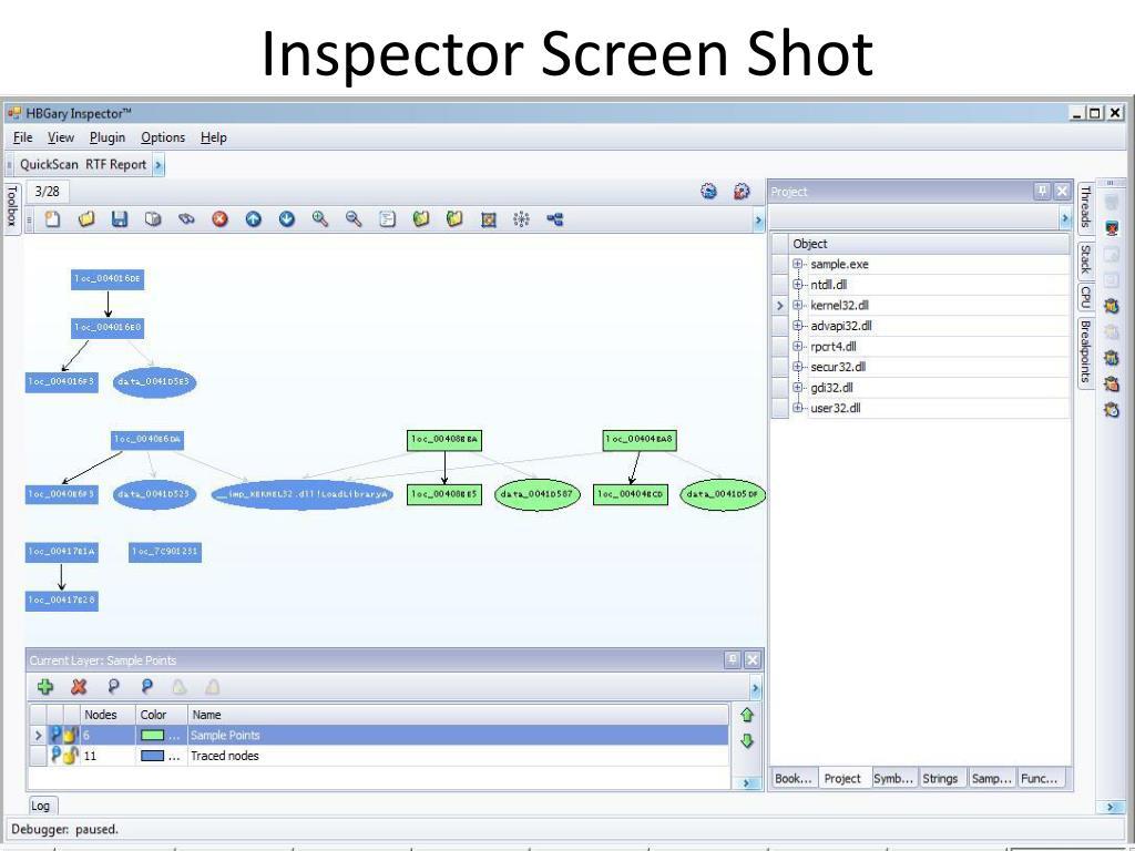 Inspector Screen Shot