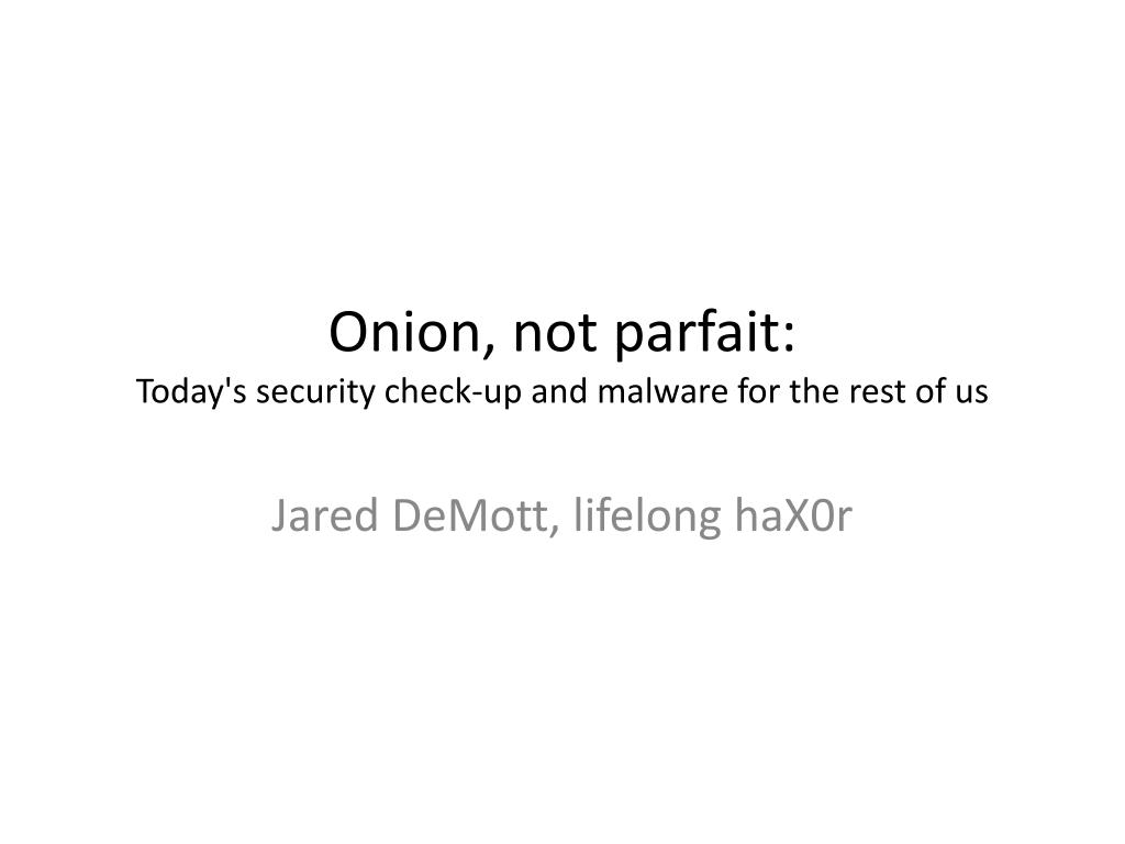Onion, not parfait: