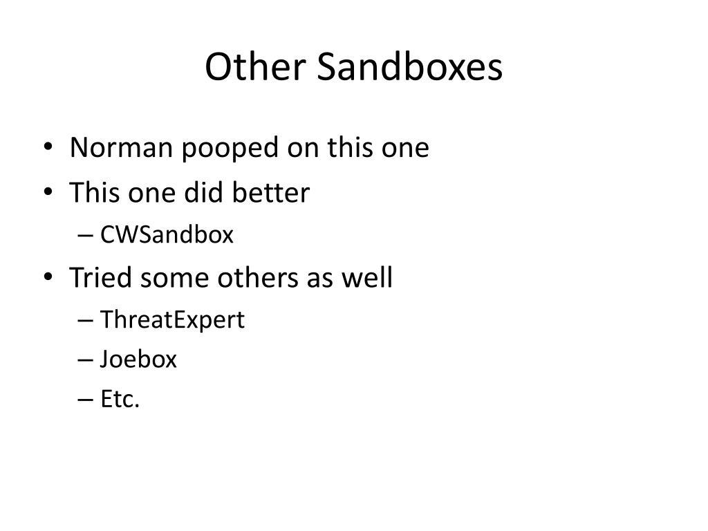 Other Sandboxes