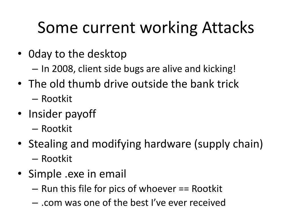 Some current working Attacks