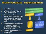movie variations implementation