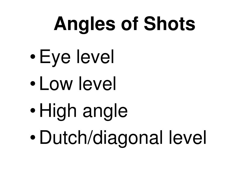 Angles of Shots