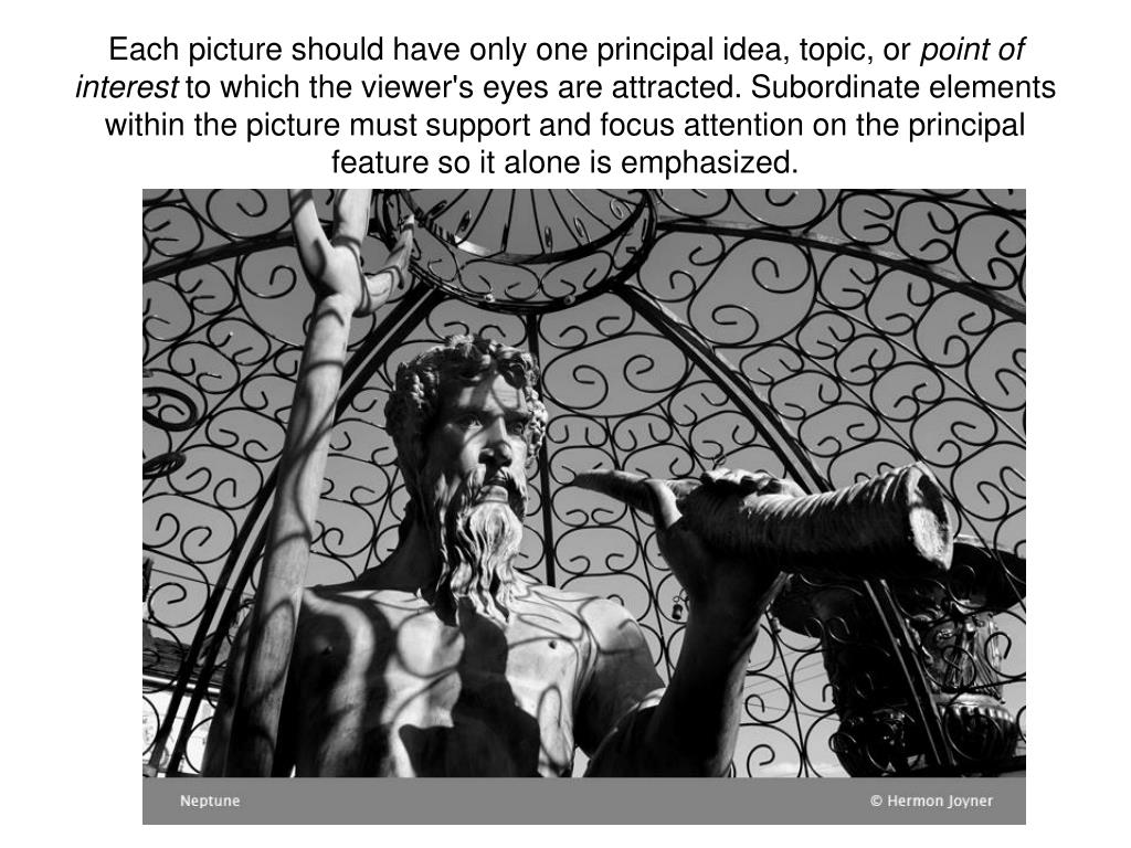 Each picture should have only one principal idea, topic, or