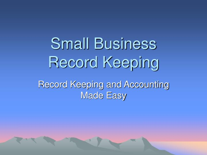 Small business record keeping