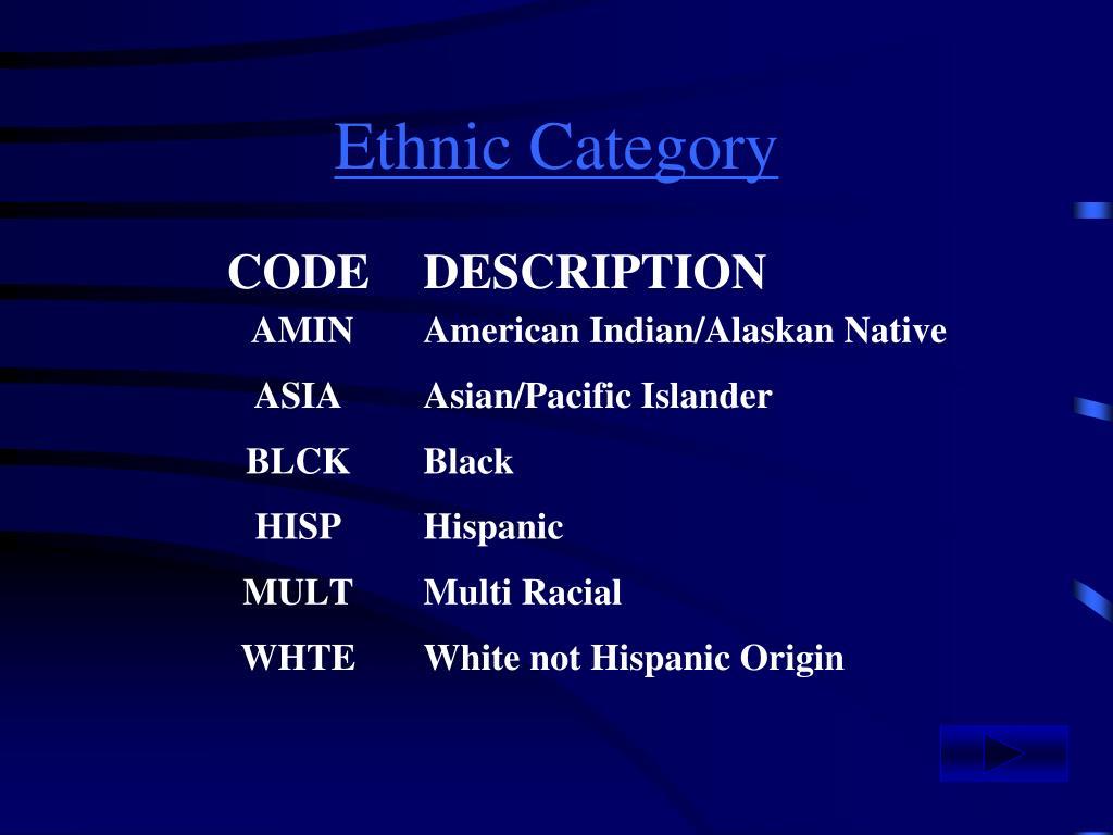 Ethnic Category