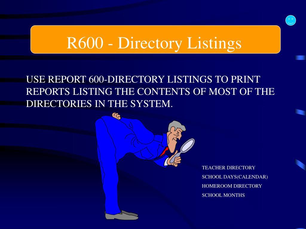 R600 - Directory Listings