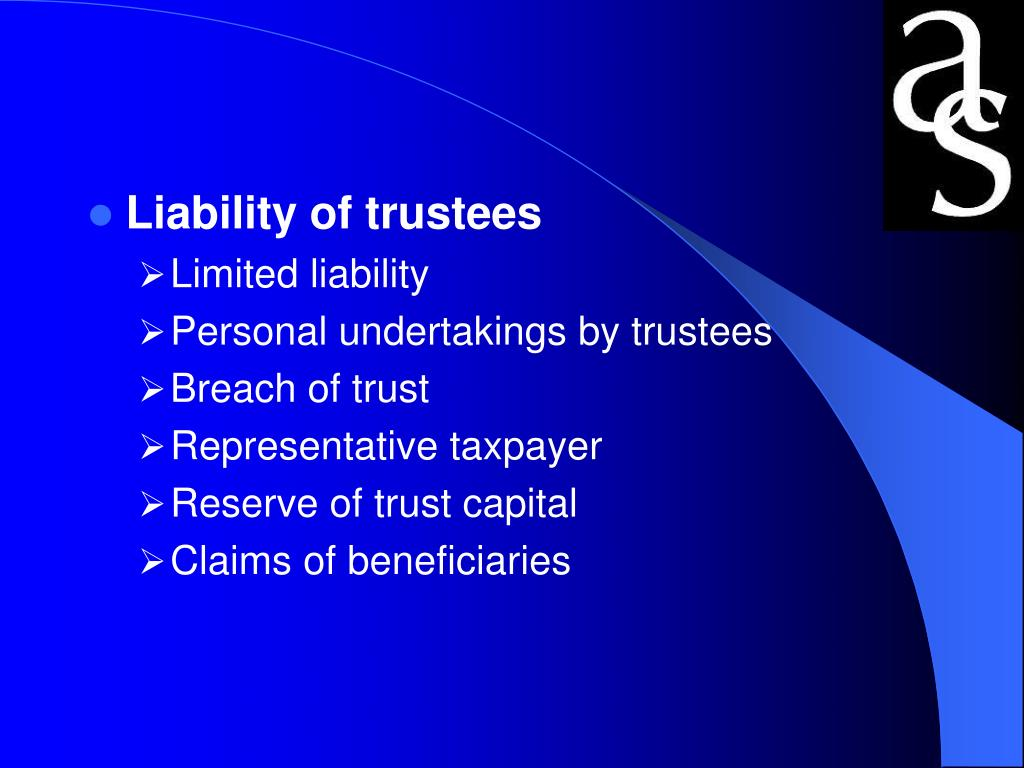 Liability of trustees