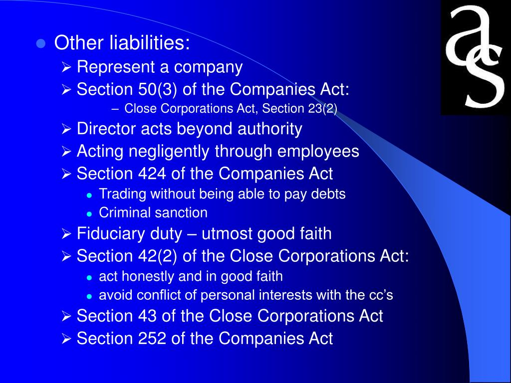 Other liabilities: