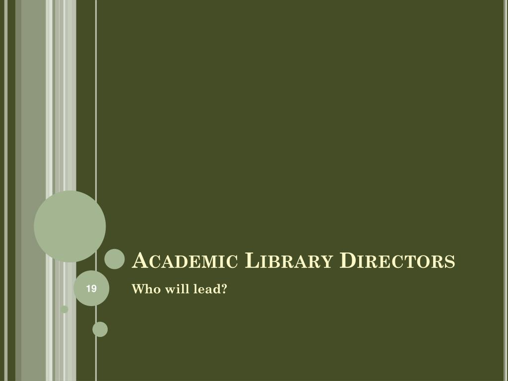 Academic Library Directors
