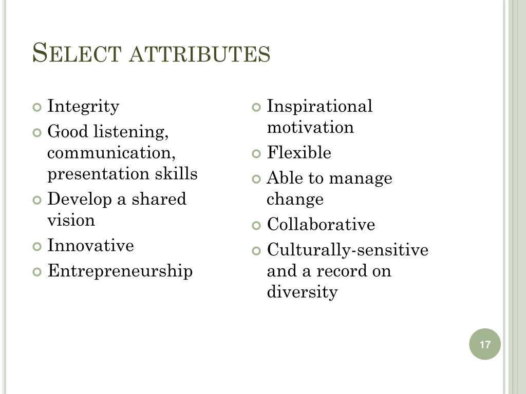 Select attributes