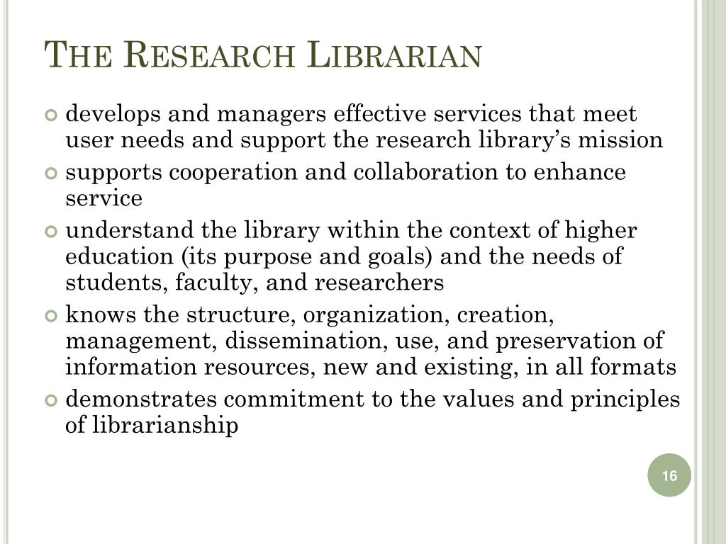 The Research Librarian