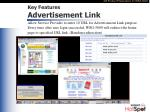 key features advertisement link