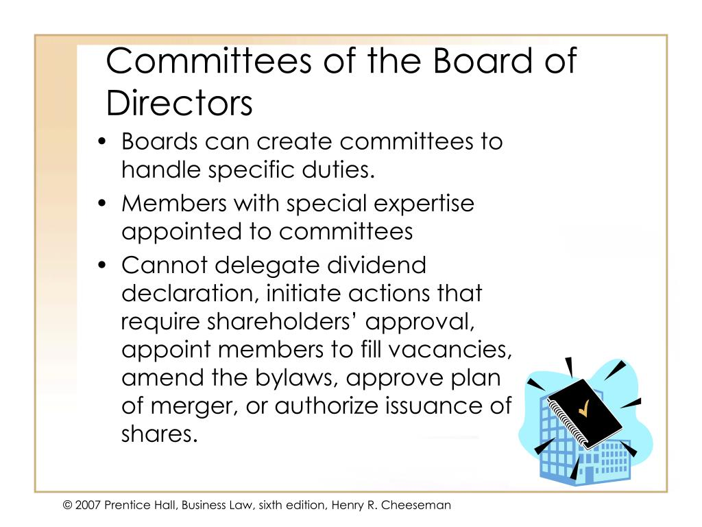 Committees of the Board of Directors